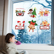 Cute Christmas Window Stickers Removable Window wall Decal Lovely Shop Window Home Window Decoration