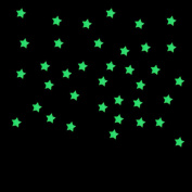 LandFox 100PC Kids Bedroom Fluorescent Glow In The Dark Stars Wall Stickers,Blue