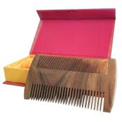 Natural Green Sandalwood Handmade Comb / Static-Free Wood Pocket Beard Combs Beard & Hair Care / Fine & Coarse Tooth