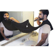 Beard Apron ,Beard Bib Catcher Hair Clippings Easy Clean for Beard Trimmings,Moustache and Hairs,Stop Clogging Sink COMPLETE WITH BONUS Beard Comb+pouch