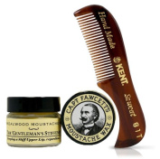 Moustache Wax and Moustache Comb kit