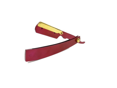 Barber Straight Razor Stainless Steel Coated Razor (Magenta with Gold)