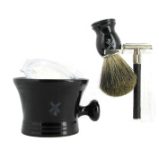 Men's Luxury Shave Set with Giesen & Forsthoff Butterfly Top Safety Razor