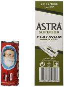 100 Astra Superior Platinum Double Edge Safety Razor Blades and Arko Shaving Cream Soap Stick