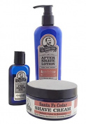 Colonel Conk Model 4031 Santa Fe Cedar 3pc Shave Kit