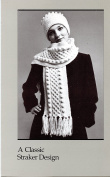 A Classic Straker Design Knitting Pattern #734 P.S. Aran Hat & Scarf