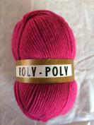 Magenta Pink Roly - Poly 100% Acrylic Knitting Crochet Yarn