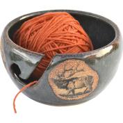 Elk Yarn Bowl in Seamist glaze