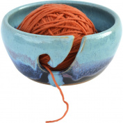 Yarn Bowl in Mountain Waves glaze
