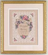 wedding aniversary in rose design cross stitch kit, 14ct, DMC thread 140180stitch, 3543 cm cross stitch kits