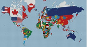 the world map 3 counted cross stitch kits, 14ct, Egypt cotton thread 400x220 stitch, 82x50 cm cross stitch kits