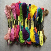 45 Skeins of 8M Multi-colour Soft Cotton Cross Stitch Embroidery Threads Floss Sewing Threads