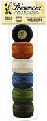 Presencia Pearl Cotton Thread Sampler - Sashiko, Embroidery & Quilting - Bertie's Summer Sampler - Size 8 - 6 Colours - 77 yard balls