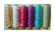 """Sue Spargo Eleganza #8 Perle 70yd Spools Polished Cotton Thread for Embroidery - Colour Set #9 """"Easter"""""""