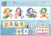 SO-G102 Mermaid Sisters, SODA Cross Stitch Pattern leaflet, authentic Korean cross stitch design chart colour printed on coated paper