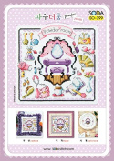 SO-399 POWDER ROOM, SODA Cross Stitch Pattern leaflet, authentic Korean cross stitch design chart colour printed on coated paper