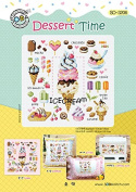 SO-3206 Dessert Time, SODA Cross Stitch Pattern leaflet, authentic Korean cross stitch design chart colour printed on coated paper