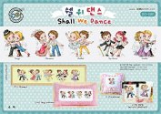 SO-G81 Shall We Dance, SODA Cross Stitch Pattern leaflet, authentic Korean cross stitch design chart colour printed on coated paper