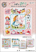 SO-3177 Alice in wonderland, SODA Cross Stitch Pattern leaflet, authentic Korean cross stitch design chart colour printed on coated paper