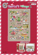 SO-G89 Santa's Village 1, SODA Cross Stitch Pattern leaflet, authentic Korean cross stitch design chart colour printed on coated paper
