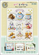 SO-3122 Mini Cookie Time, SODA Cross Stitch Pattern leaflet, authentic Korean cross stitch design chart colour printed on coated paper