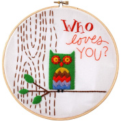 Who Loves You. Stamped Embroidery Kit-20cm Round