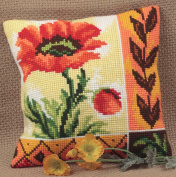 Collection dArt New Poppy Cushion Cross Stitch Kit