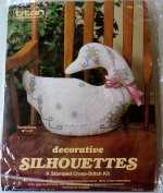 Decorative Silhouettes ~ Stamped Cross Stitch Kit ~ Turning Goose