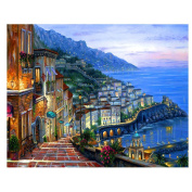 Blxecky 5D DIY Diamond Painting By Number Kits,The seaside village