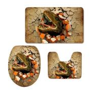 Bigcardesigns Fashion Dinosaur Designs Bathroom Mats Set