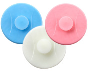 yueton 3pcs Silicone Sucker Tub Basin Stopper Drain Plug for Kitchens, Bathrooms and Laundries