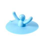 Egoelife Cute Person Shape Silicone Tub Drain Stopper Floor Drain for Kitchen Bathroom & Laundry