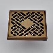 Rozin Antique Brass Bathroom Floor Drain