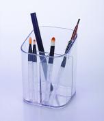 BathSense CT98CU7 Acrylic Collection Bathroom Vanity Top Makeup Brush Organiser for Bathroom, Transparent