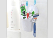 Toothbrush Holder,Windspeed Toothbrush Toothpaste Razor Holder Organiser with Suction Cup for Bathroom