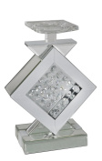 Floating Crystal Diamond Mirror Candle Holder