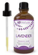 UpNature The Best Dutch Lavender Oil 120ml - 100% Pure & Natural, Undiluted & Unfiltered, Premium Quality With Glass Dropper - Perfect For Use For Hair, Diffuser, Scalp, Skin, Sleep