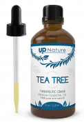 UpNature The Best Tea Tree Oil 120ml - 100% Pure & Natural, Undiluted & Unfiltered, Premium Quality With Glass Dropper - Many Uses - Use to Make Soap, Cream, Shampoo & Face And Body Wash