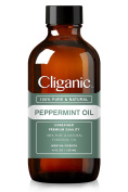 Cliganic™ 100% Pure Peppermint Essential Oil (120ml) | Natural Peppermint Oil to Repel Mice / Spiders, Best for Hair, Migraines & Aromatherapy | Mentha Piperita Plant .