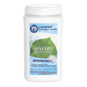 Seventh Generation Laundry Detergent Packs, Fragrance Free, 75 Count