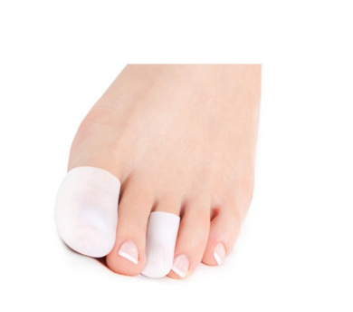 4Pcs White Silicone Gel Toe Stretched Cuttable Tube Toe Cap Sleeves Toe Separators Finger Protector for Callus Corn Blisters Bunion (Large)