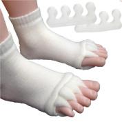 Foot & Toes Alignment Socks Five Toe Separators Kit for bunions hammer toes