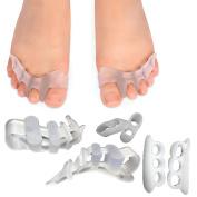 SMFHealth 3 Pairs Toe Separators Kit,For Hammer Toe Straightener,Overlapping Toes,Bunion and Toe Little Thumb Separator Orthotics