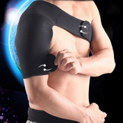 Adjustable Gym Sports Single Shoulder Brace Support Strap Wrap Belt Band Pad for Men and Women Arthritis Sports Injury Dislocation Pain