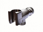 High Sierra's All Metal Universal Handheld Shower Holder - Brushed Nickel