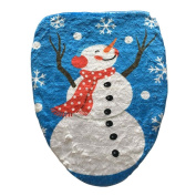 Uleade™ Snowman Santa Toilet Seat Cover Set for Bathroom Christmas Decorations