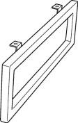 Keramag Towel Rail Preciosa Ii, Cont 48.5 X 10 Cm X2Cm Lateral Mounting, 500750000