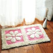 Cotton bathroom water-absorbing mats household mats non-slip door mat bathroom mat -5080cm s