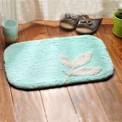 Bathroom mats door mats bedroom hallway absorbent mats anti-skid mats for bathroom and kitchen -3550cm Light blue