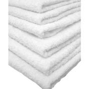 24 PCS NEW WHITE 20X40 100% COTTON ECONOMY BATH TOWELS SOFT & QUICK DRY